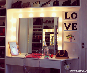 dresser, dressing table, and makeup image