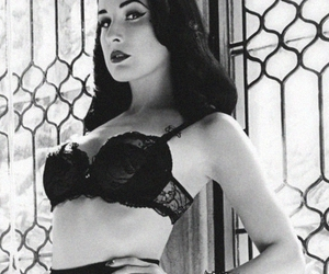 beautiful, black and white, and lace image