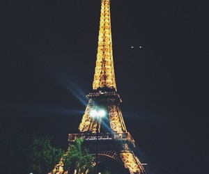 beautiful, tower, and night image