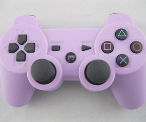 game, purple, and controller image