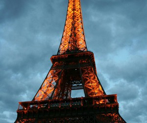 beautiful, clouds, and eiffeltower image