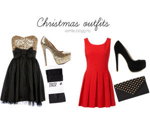 clutch, dress, and outfit image