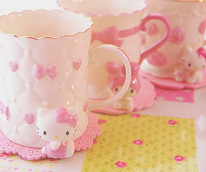 cup, hello kitty, and cute image