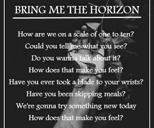bring me the horizon, cuts, and death image