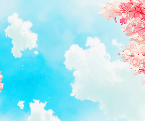 anime, sky, and sakura image