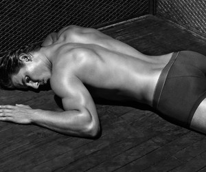 black and white, tennis player, and butt image