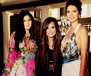 demi lovato, kendall jenner, and kylie jenner image