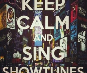 broadway, hollywood, and keep calm image