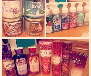 body lotion, candles, and skincare image