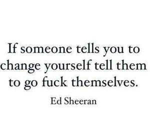 quote and ed sheeran image