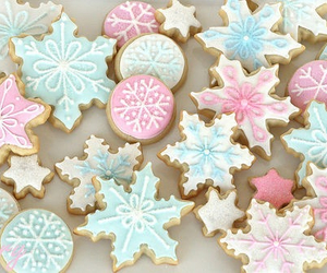 blue, christmas, and snowflakes image