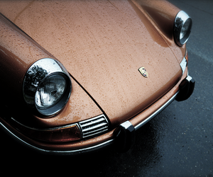 car, porsche, and brown image