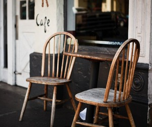 chair and cafe image