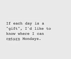 funny, gift, and monday image
