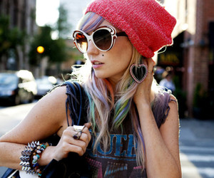 audrey kitching, sunglasses, and hair image