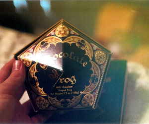 harry potter, chocolate, and chocolate frog image
