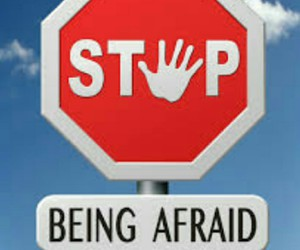sign, stop, and being afraid image
