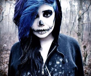blue, emo, and Halloween image