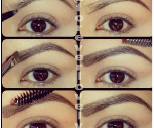 tutorial, eyebrows, and eyes image