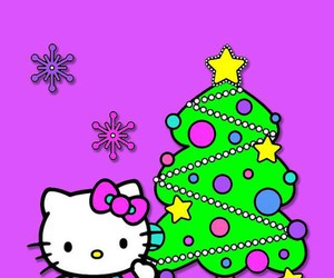 christmas, wallpaper, and hello kitty image