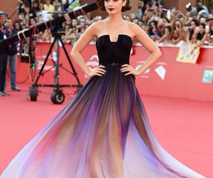 lily collins, dress, and red carpet image