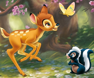 bambi, cute, and love image