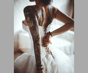 baby got back, corset, and ink image