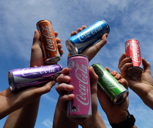 coke, colourful, and summer image
