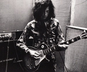 jimmy page, led zeppelin, and guitar image