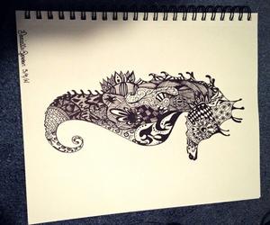 animal, art, and art work image