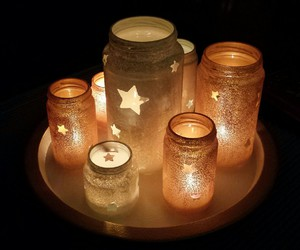 candles, fall, and christmas image