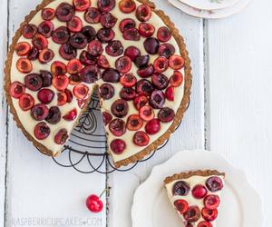 cherry, dessert, and vanilla image