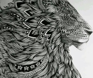 art., lion painting, and awesome image