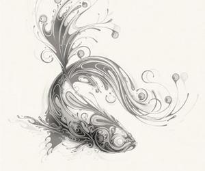 fish, illustration, and art image