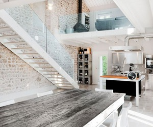 house, white, and interior image