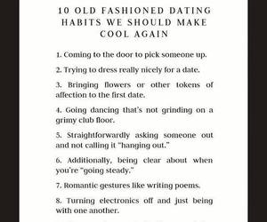 dancing, dating, and habits image