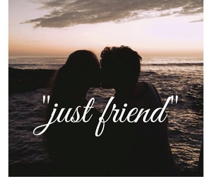 friend, just, and kiss image