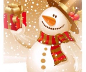 christmas, merry christmas, and snowman image