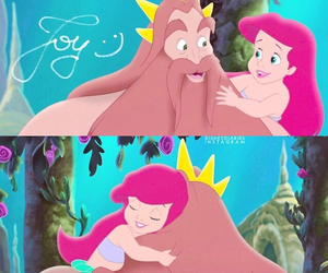 ariel, disney, and father image