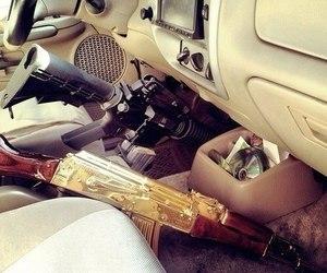 car, gun, and luxury image