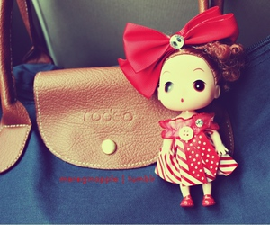 bag, curly, and doll image