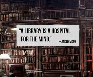books, hospital, and library image