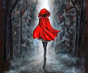 red, red riding hood, and art image