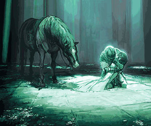 game, horse, and love image