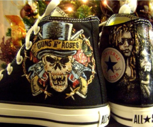 Guns N Roses, all star, and shoes image