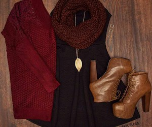boots, fall, and cute image
