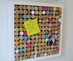 board, cork, and wine image