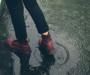 rain, shoes, and grunge image