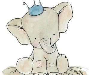adorable, elephant, and so cute image