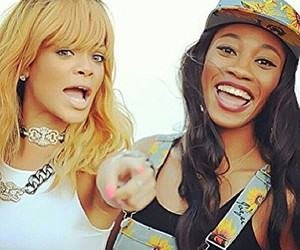 rihanna, Melissa Forde, and rih's face image